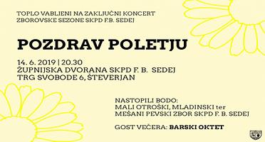 """Zaključek zborovske sezone – """"POZDRAV POLETJU"""""""